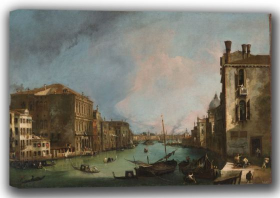 Canaletto, Giovanni Antonio Canal: The Grand Canal in Venice with the Palazzo Corner. Fine Art Canvas. Sizes: A4/A3/A2/A1 (003529)
